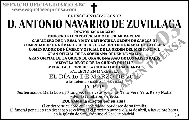 Antonio Navarro de Zuvillaga